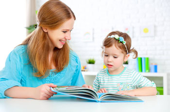 Teaching a five-year-old child to read
