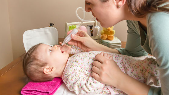 With the accumulation of mucus, the baby is removed with a special device